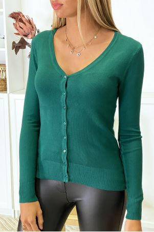 Very stretchy and very soft green knit cardigan