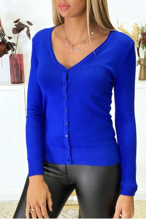 Very stretchy and very soft royal knit cardigan