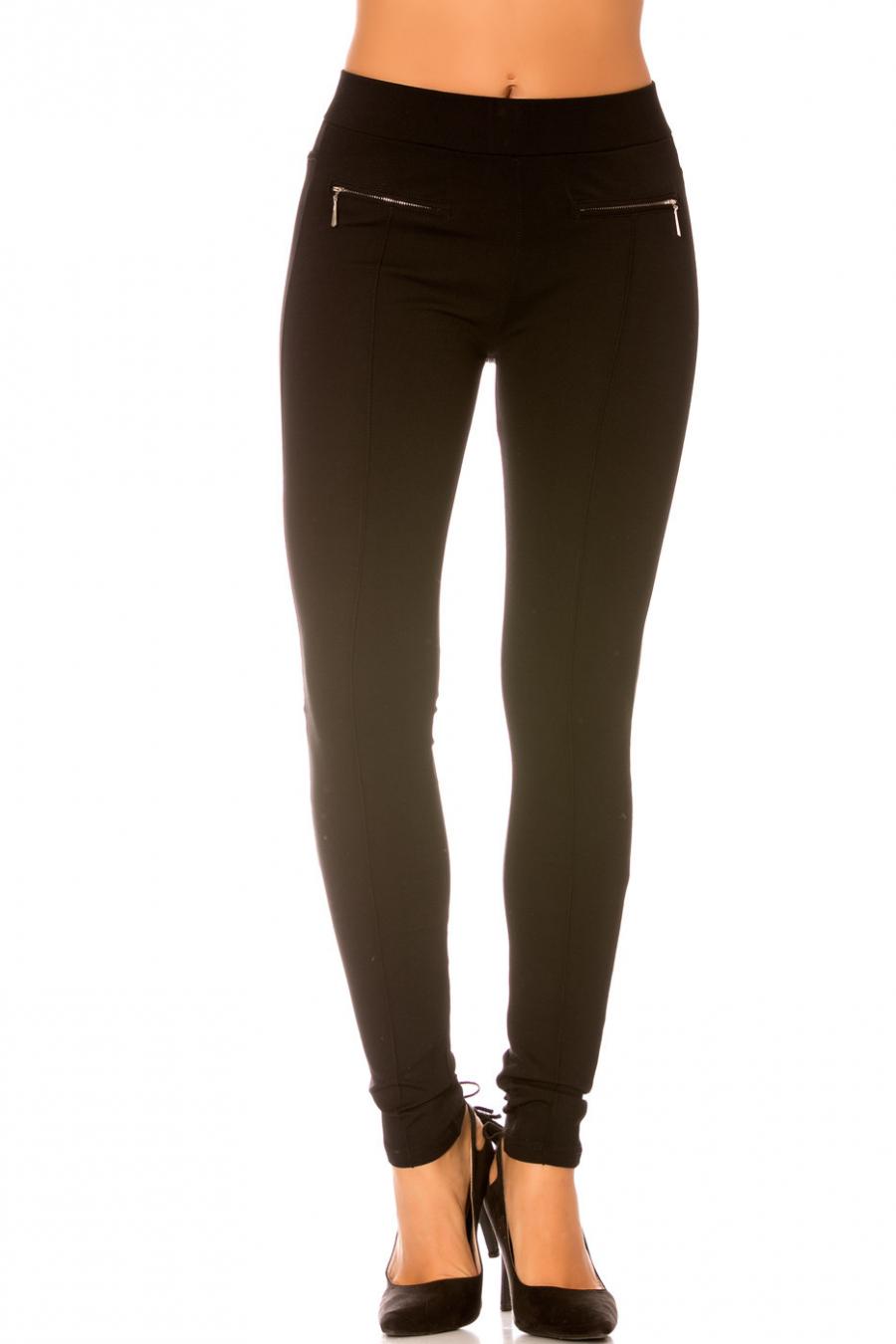 Pantalon Noir avec Zip invisible sur le côté - SD035