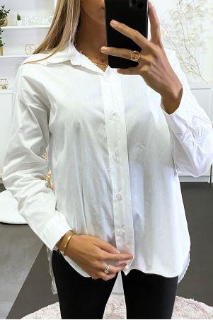 Chemise blanche over size court devant et long derrière