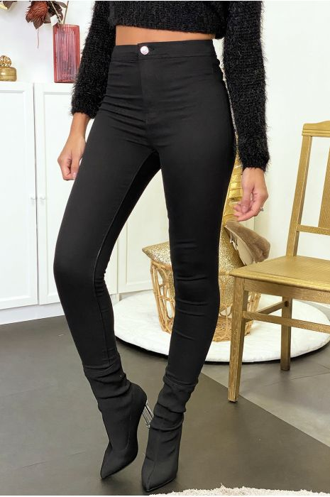 Black jeans jeggings with back pockets