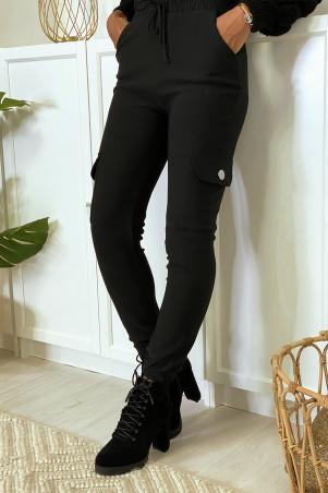 Zwarte joggingbroek met steekzakken