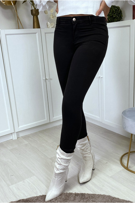 Jean slim noir taille basse