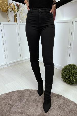Zwarte slimfit jeans met hoge taille en achterzakken