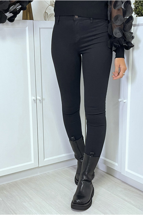 High waist slim navy jeans with back pockets