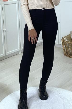 Jeans slim noir stretch taille haute