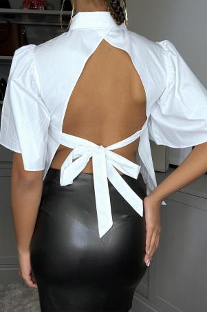Overhemd met open achterkant om te knopen