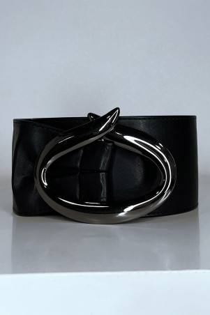 Grosse ceinture violette avec boucle ovale