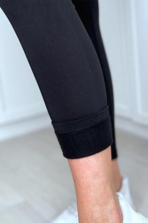Legging noir molletoné taille haute special ventre plat