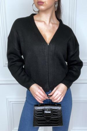 Gilet noir à attache crochet