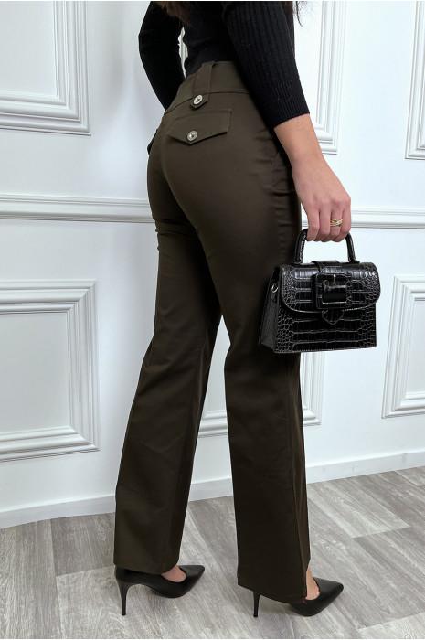 Pantalon flare marron à pince