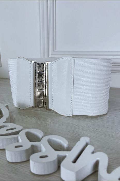 Ceinture de taille blanche avec lacet au dos