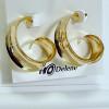 Boucles d'oreilles argentées en forme de spirale