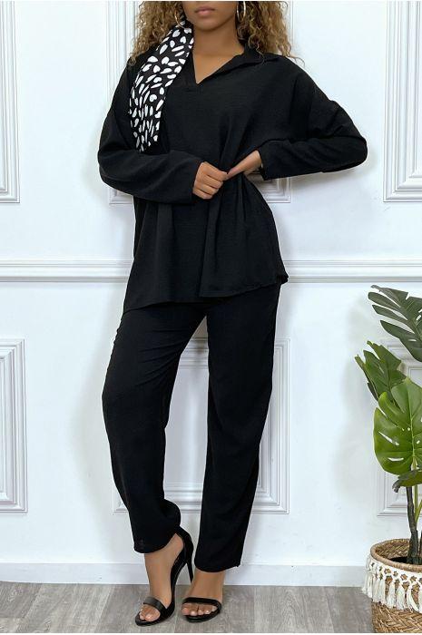 Ensemble kaki tunique et pantalon très tendance et agréable à porter