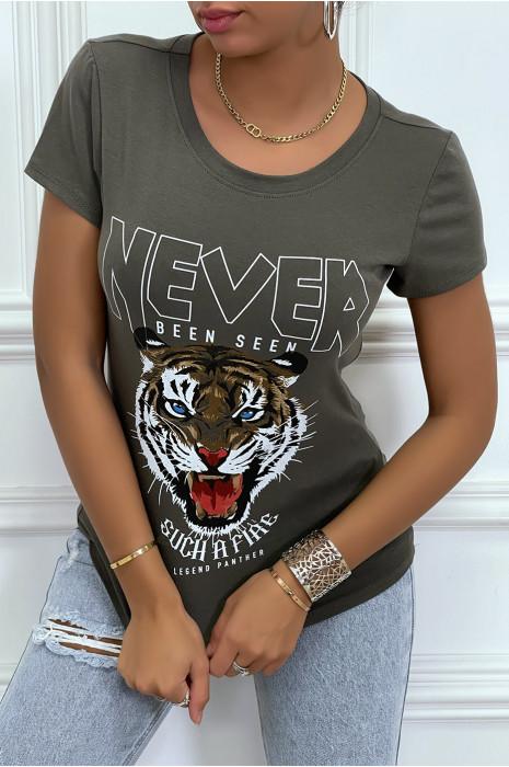 Tee-shirt noir imprimé NEVER