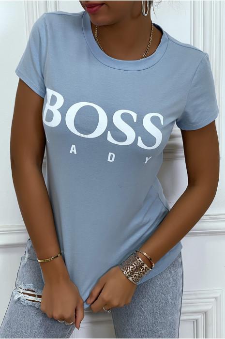 Tee-shirt gris imprimé BOSS