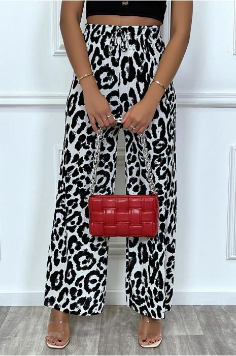 Palazzo choco motif leopard