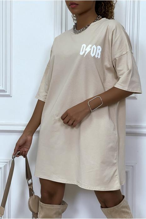 """Tee-shirt oversize noir """"D/or"""""""