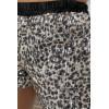 Mini short noir leopard en sequins