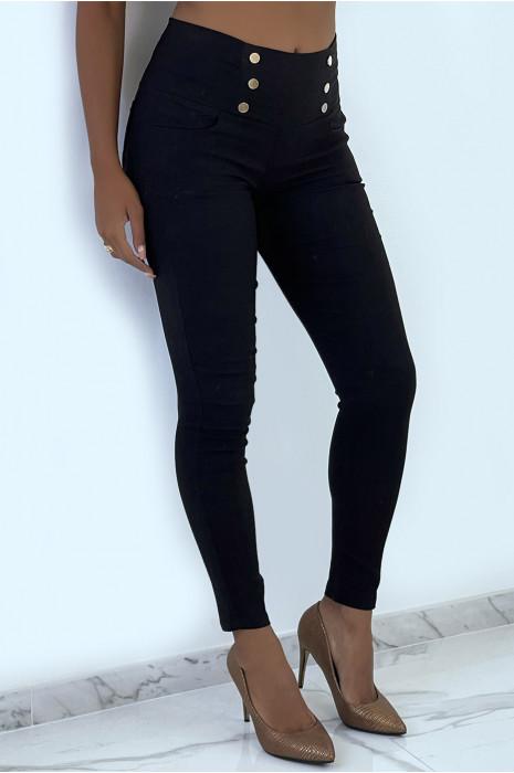 3-button high waist khaki pants