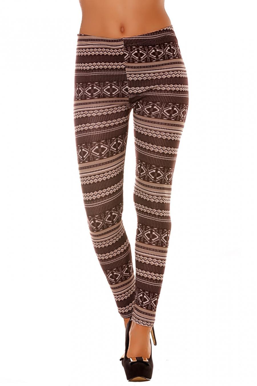 Leggings d'hiver coloré en Choco et motifs fantaisie. Mode Tendance. 107-3