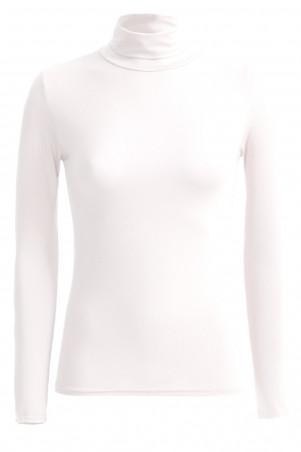 Very fashionable white turtleneck sweater. Cheap women's underwear.
