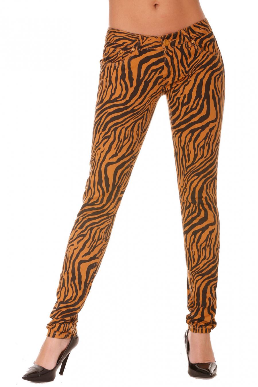 Pantalon Jeans automne avec magnifique motif noir - S1317F