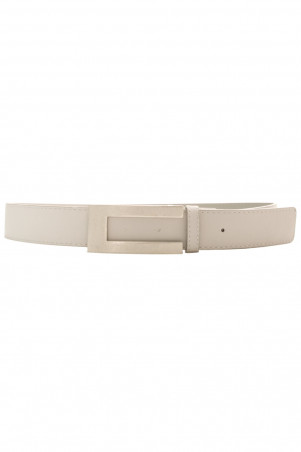 Gray PVC belt with silver buckle. SG0731
