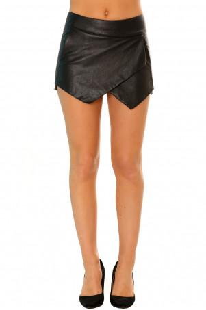 Magnifique jupe short porte feuille noir en pvc avec poche. Short fashion  et sexy a2445 ... 4a78e0e371f