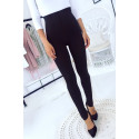 Black slimming leggings High waist, flat stomach and slim legs. 15-441