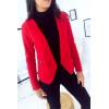 Blazer rouge revers drapés. Veste Femme fashion. 1459