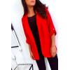 Superbe veste 3/4 leger en rouge. Mode femme pas cher 1815