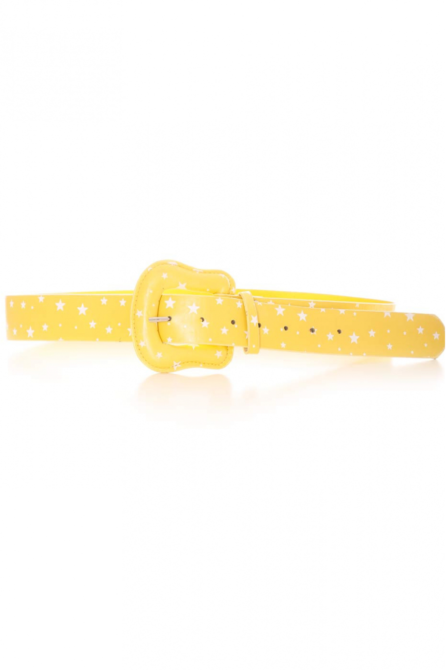 Yellow belt with white stars pattern. Accessory BG-P009