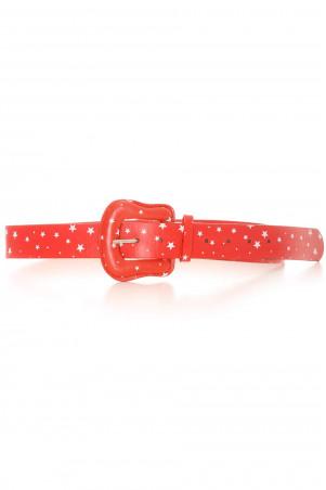 Rode riem met wit sterrenpatroon. Toebehoren BG-P009