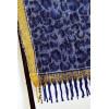 Schitterende warme marineblauwe sjaal gemaakt van wol en viscose. 1869