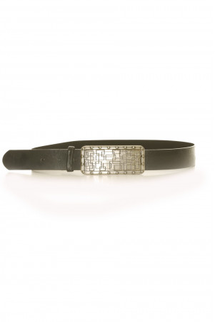 Black belt with rectangle buckle - CE 573