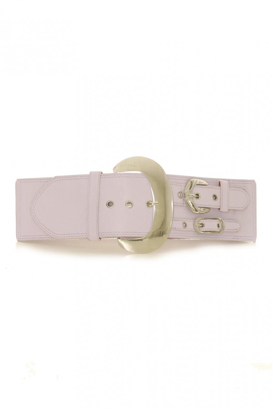 Lila elastische tailleband met dubbel taillebandeffect aan de zijkant - SG - 0306