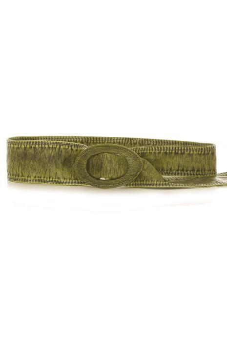 Groene imitatieleren riem - BG - 3003