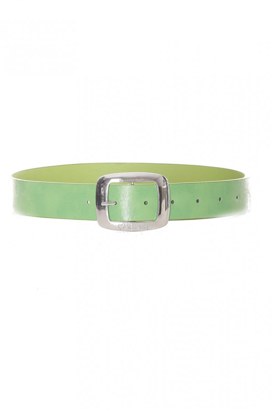 Basic groene effen groene riem - D7358