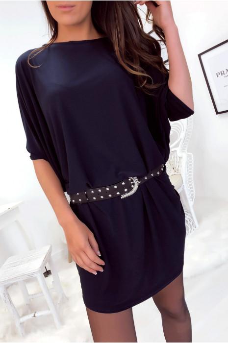 Superbe robe tunique marine ultra ample et très tendance vendu sans la ceinture