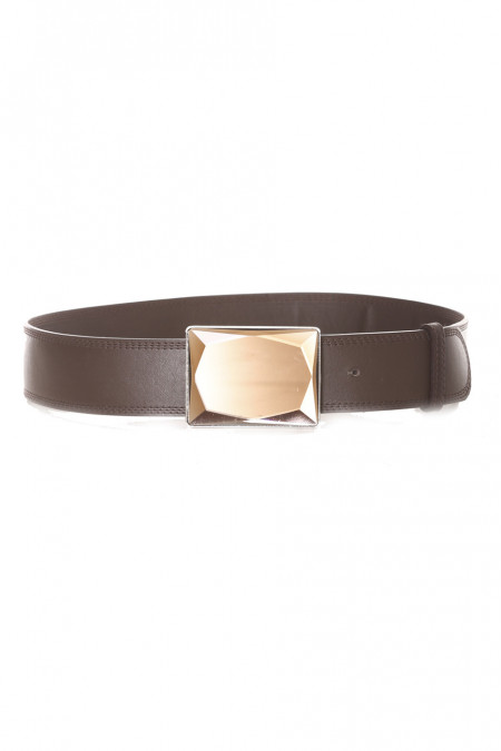 Brown belt with jewelry buckle - LDF 0058
