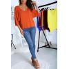 Pull léger Orange avec manches chauves souris en maille légère et agréable