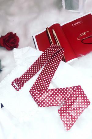 Jolie ceinture rouge avec petit pois idéale avec une jolie robe
