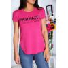 T-shirt fuchsia avec écriture PARFAITE à l'avant et plus longue derrière