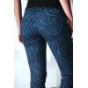 Pantalon Jeans bleu extensible avec poche et motif noir S1317D