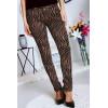 Pantalon Jeans Taupe avec ces motifs tendances Noir - S1317G