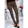 Taupe Jeans Pants with these trendy patterns Black - S1317G