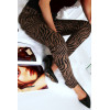 Taupe Jeansbroek met deze trendy patronen Zwart - S1317G