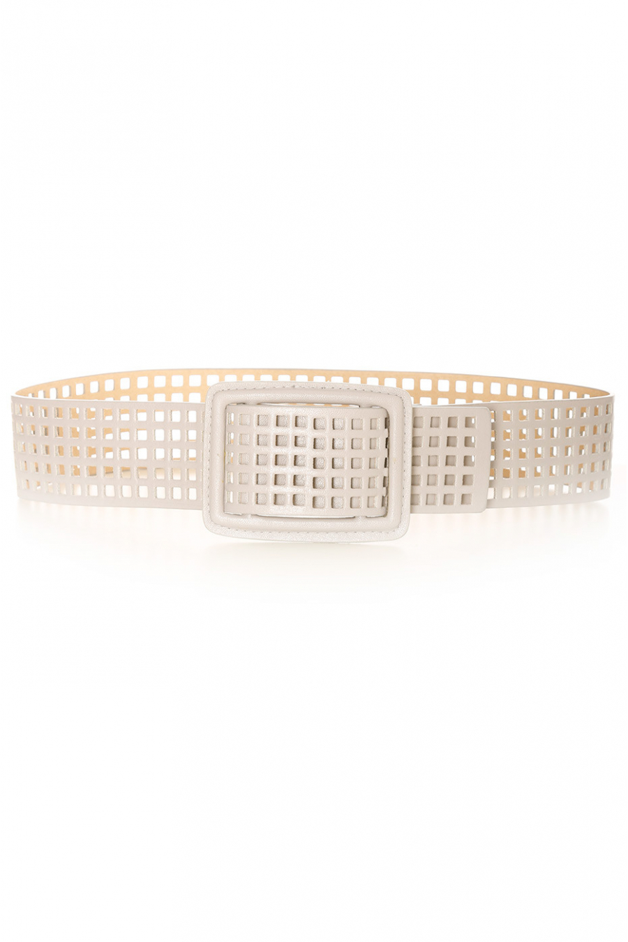 Gray grid belt with holes. SG-0452