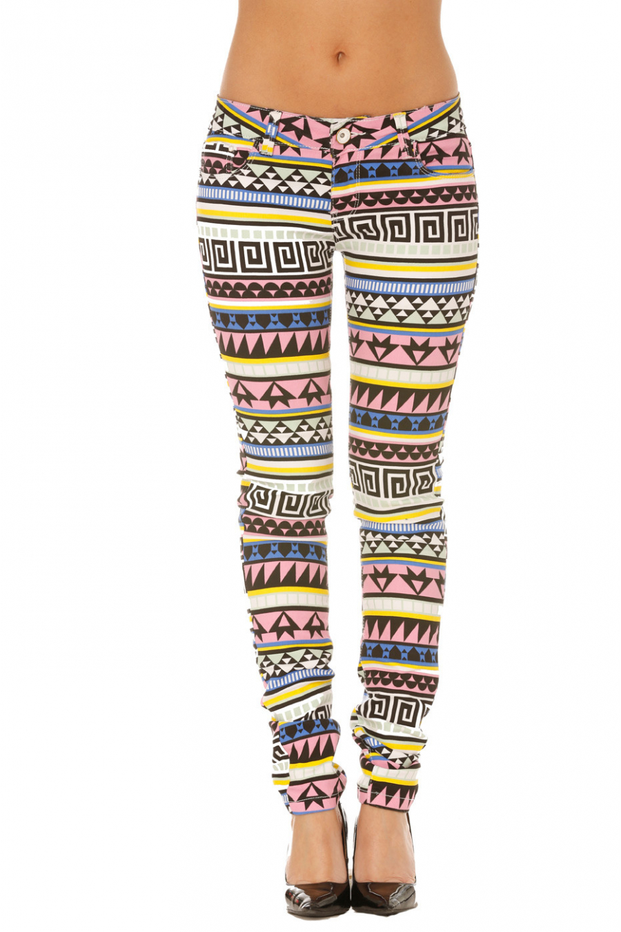 Pantalon Jeans Multicolore ZIGZAG - WLG020